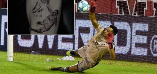 Un hincha de Platense se tatuó a Jorge De Olivera, el arquero misionero que atajó un penal le dio el ascenso al Calamar