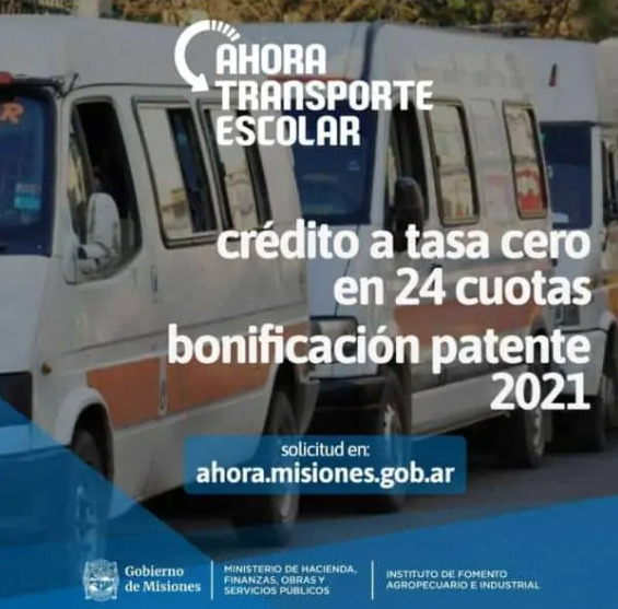 """Transportistas escolares de Misiones aseguran que """"están preparados"""" para la vuelta a las clases presenciales"""