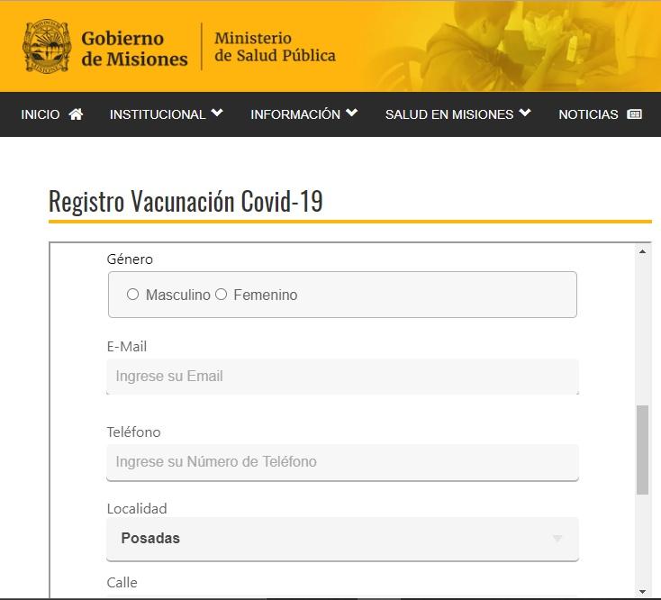 vacunación en Misiones