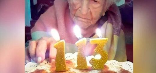Tiene 113 años y es la persona más longeva en superar el coronavirus en el país