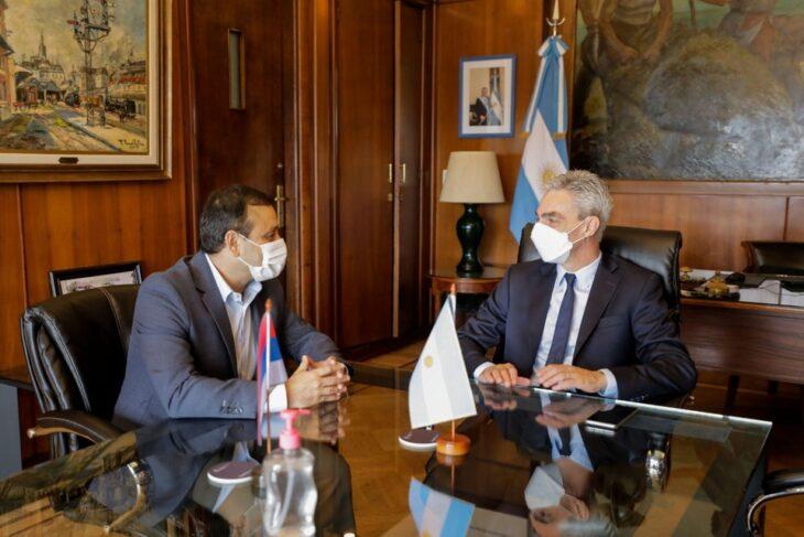 Obras de terminales de ómnibus y subsidios al transporte, los planteos de Herrera Ahuad al ministro Meoni