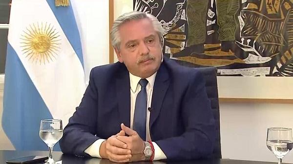 Parte médico de Alberto Fernández