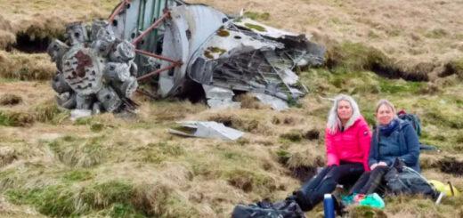 Paseaban por una montaña y encontraron los restos de un avión estrellado hace 73 años