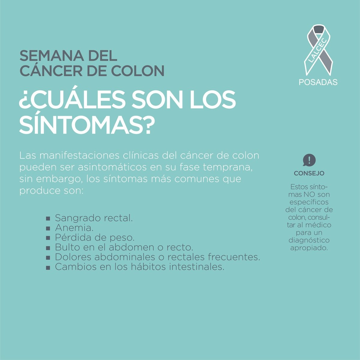 Semana de concientización del cáncer de colon: síntomas, tratamientos y todo lo que hay que saber