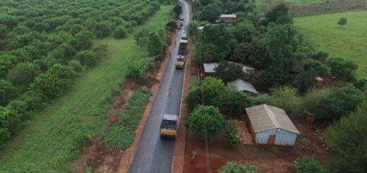 Vialidad de Misiones concluye trabajos de asfalto sobre empedrado en 10 cuadras de Colonia Delicia