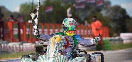 Karting: con gran estrategia Grimaldi ganó la primera fecha de la Rotax Bue