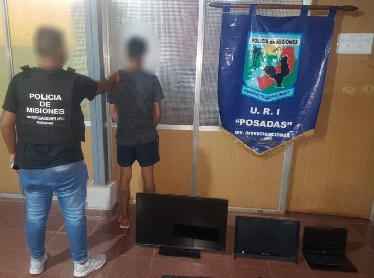 Un joven fue detenido en Posadas por vender objetos electrónicos robados
