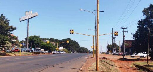 nuevos semáforos en la avenida Quaranta