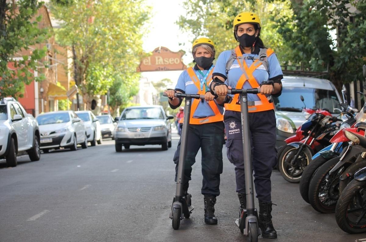 Posadas Sustentable: los agentes de tránsito de la Municipalidad se movilizarán por la ciudad con monopatines eléctricos