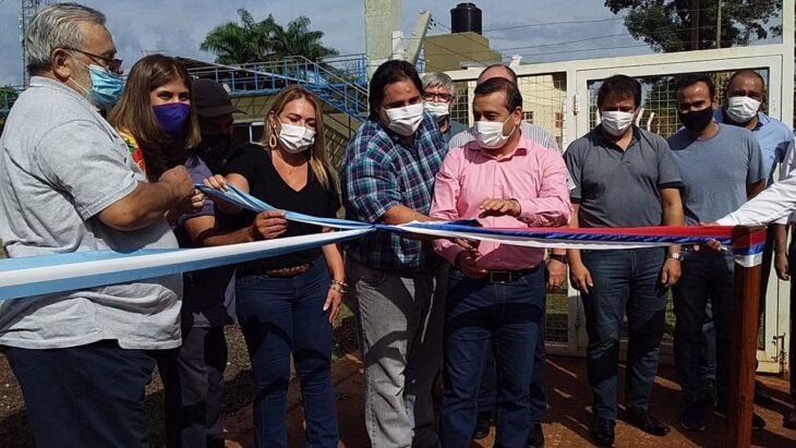 Herrera Ahuad afirmó que el Destino Iguazú es seguro para el turismo en Semana Santa, durante la inauguración de la nueva planta potabilizadora de Puerto Libertad