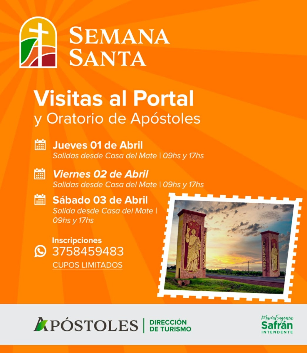 Semana Santa en Apóstoles: conocé todas las propuestas que ofrece la capital de la yerba mate para este fin de semana largo