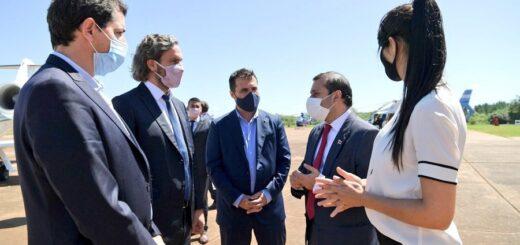 Con la presencia de Santiago Cafiero, ministros nacionales y el gobernador Herrera Ahuad, comenzó el hormigonado de la central hidroeléctrica Aña Cuá