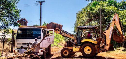 Eldorado: la Municipalidad continúa con el arreglo y mejora de calles en distintos puntos