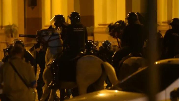 Manifestación y represión en Asunción en una marcha contra el Gobierno nacional de Paraguay