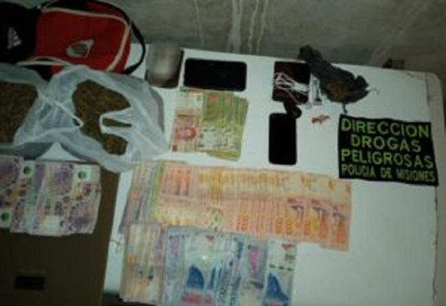 """Desmantelaron un """"kiosco"""" narco en Garupá  y detuvieron a dos jóvenes"""