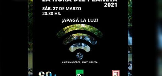 "Eldorado se suma a ""la hora del planeta 2021"""