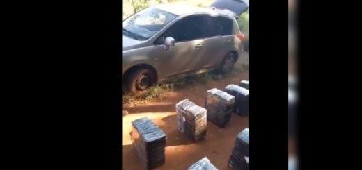 Secuestraron un auto con 17 bultos de marihuana en Misiones
