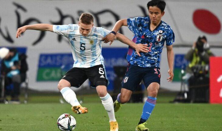 La Selección Argentina de fútbol Sub 23 cayó ante Japón por 3-0 en el segundo partido preparatorio rumbo a los Juegos Olímpicos de Tokio