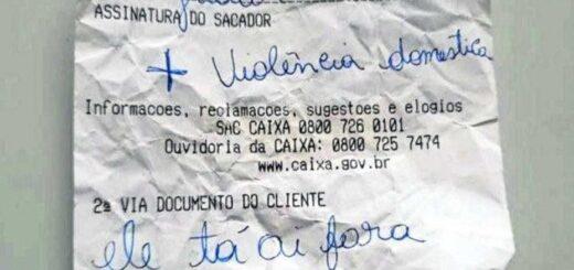"""El dramático pedido de ayuda de una mujer víctima de violencia de género en un ticket bancario: """"Él está ahí afuera"""""""