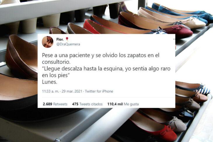 Viral: caminó una cuadra descalza hasta darse cuenta que se había olvidado los zapatos en el médico