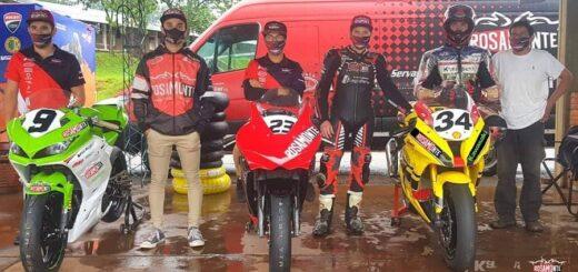 Superbike: el Rosamonte Team entrenó en Oberá