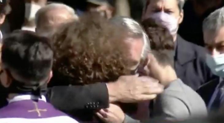 El dolor del presidente Alberto Fernández en la despedida al ministro Mario Meoni