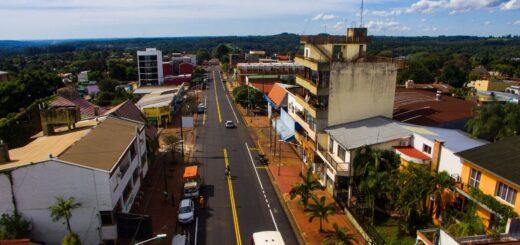 Vialidad de Misiones repavimentó y señalizó la avenida Belgrano de Leandro N. Alem