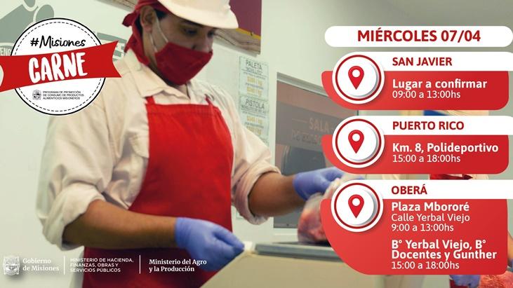 Los operativos #MisionesCarne continúan hoy en San Javier, Panambí y Oberá