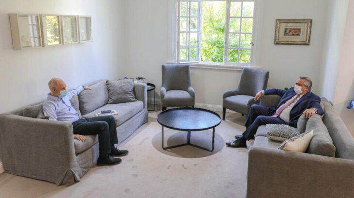 Fernández se reunió con Larreta: el Presidente dijo que fue «un buen diálogo» y ratificó la suspensión de las clases presenciales en CABA