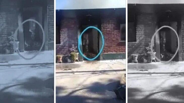 """Video: se incendió una casa y captaron a un fantasma que """"paseaba"""" en el interior"""