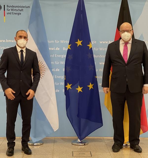 El ministro de Economía, Martín Guzmán se reunió con su par de Alemania