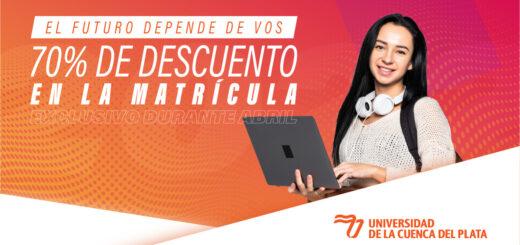 Universidad de la Cuenca del Plata: se abren las inscripciones 2022 con 70% de descuento