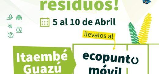 Posadas: el Ecopunto Móvil estará en Itaembé Guazú