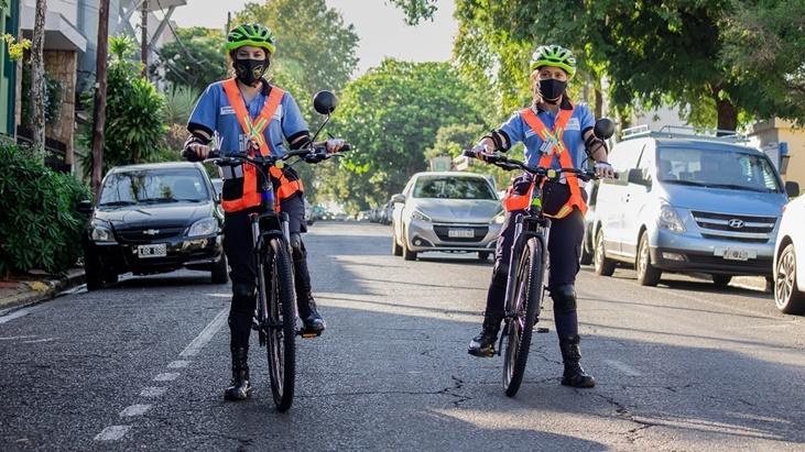 Desde la municipalidad de Posadas implementan el uso de bicicletas para controlar el tránsito