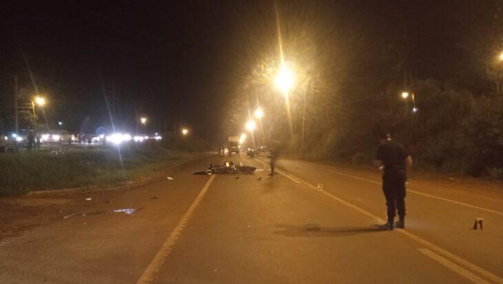 Dos motocicletas protagonizaron un choque en la Ruta 14 a la altura de Oberá