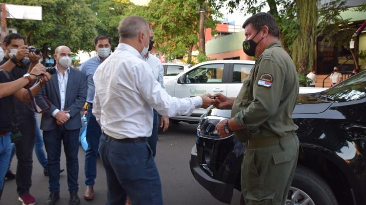 Desde el Ministerio de Ecología de Misiones entregaron móviles y equipamiento para fortalecer la custodia de sus áreas protegidas
