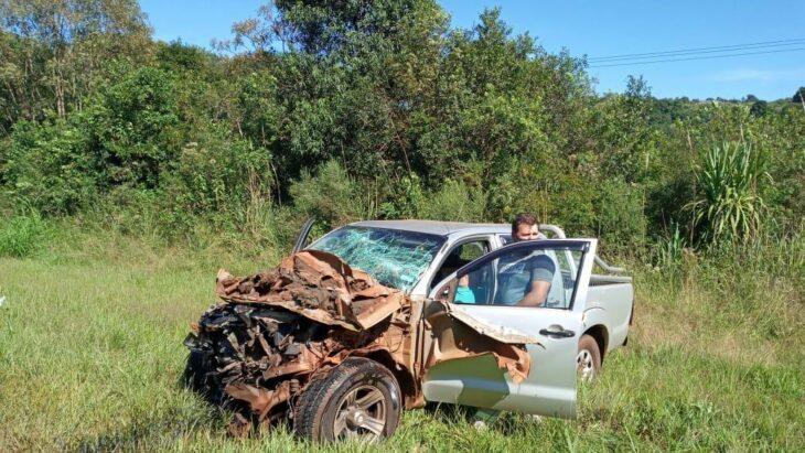 Brutal choque en Dos de Mayo: ambos conductores sobrevivieron