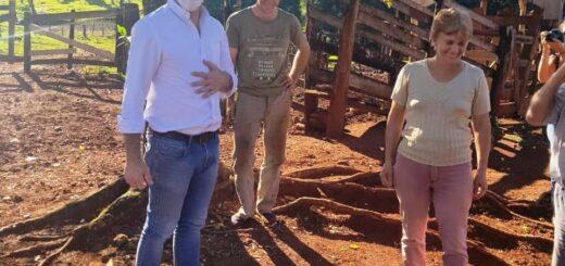 Oriozabala estuvo en distintos puntos de la provincia con el objetivo de promover la soberanía alimentaria