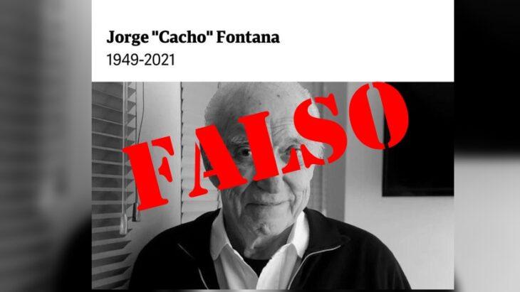 Varios medios anunciaron la muerte de Cacho Fontana pero resultó ser una noticia falsa