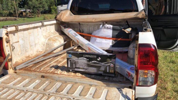 Gendarmería interceptó un vehículo de Energía de Misiones con contrabando: traían elementos provenientes de Brasil