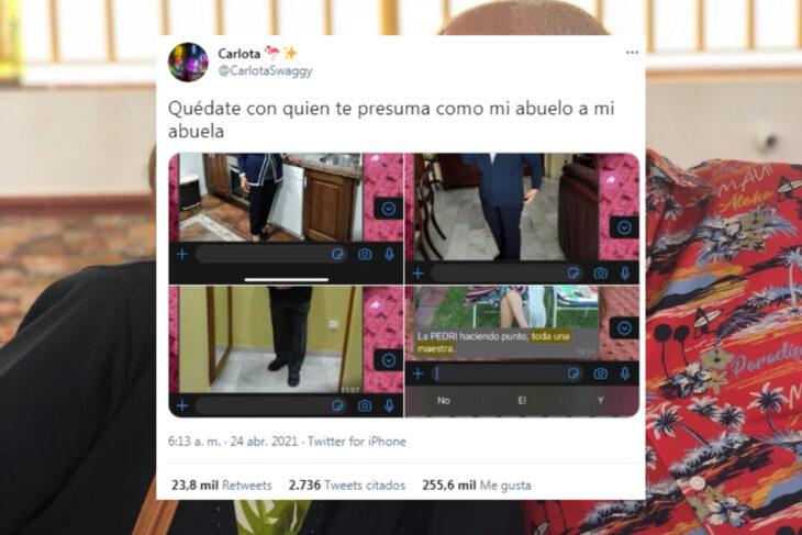 «Quédate con quien te presuma como mi abuelo a mi abuela», el tuit que se hizo viral
