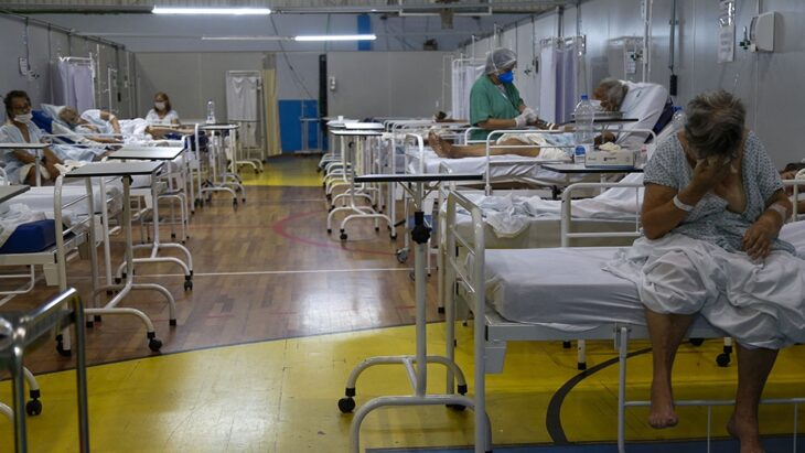 Preocupa la situación en Brasil ya que las salas UTI cuentan con más pacientes jóvenes internados que mayores