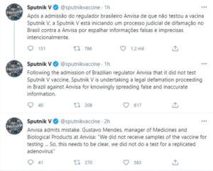 Los creadores de la vacuna Sputnik V demandarán al ente regulador de Brasil por difamación