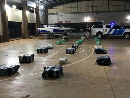 Prefectura interceptó un cargamento de 514 kilos de marihuana en Posadas