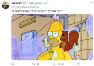 Fue a hacer una instalación y los dueños de la casa tenían de mascota un pajarito: lo compararon con Homero Simpson