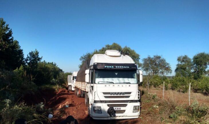Contrabando de soja en Misiones: secuestraron tres camiones con granos que evadieron los controles fiscales