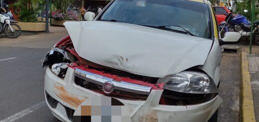 Choque en pleno centro de Posadas dejó un herido