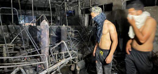 Mas de 80 muertos en incendio de hospital para casos de Covid en Irak