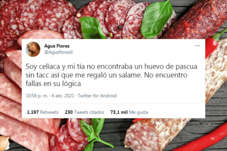 Viral: es celíaca y para pascuas le regalaron un salame