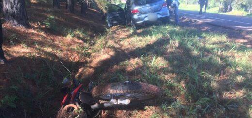 Tragedia en Misiones: choque entre un auto y una moto dejó una adolescente de 15 años fallecida en Itacaruaré